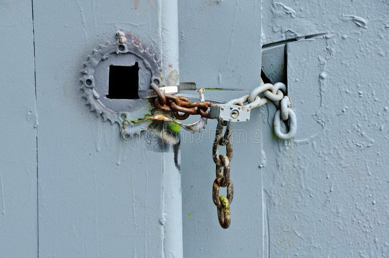 Under the Bridge. Interesting padlock Under the Burnside Bridge in Portland Oregon royalty free stock images