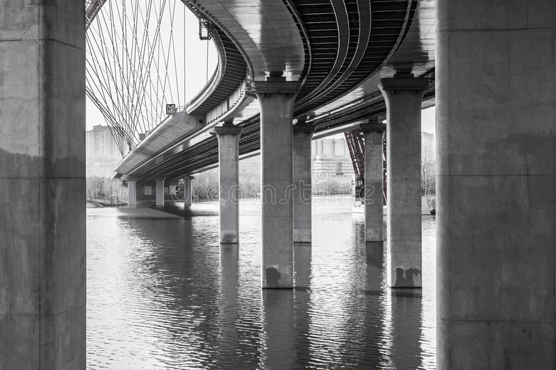 Under the bridge royalty free stock photography