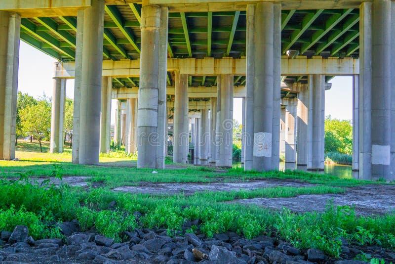 Under the bridge park. The park builded in under bridge area in New york Queens stock photography