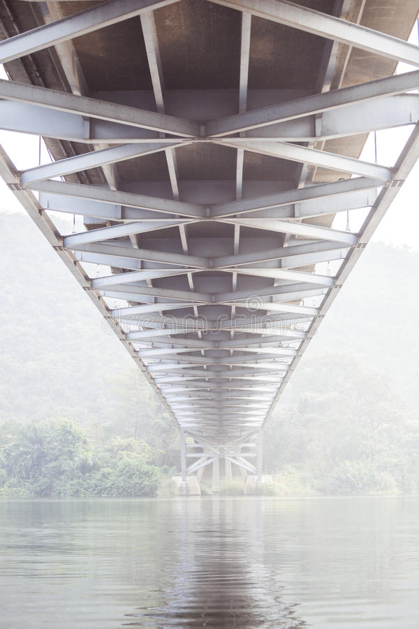 Under the bridge. In tropical climate, Ghana, West Africa stock image
