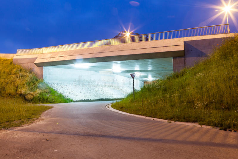 Download Under the bridge stock image. Image of yellow, transportation - 45810825
