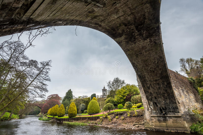 Under the Brig o Doon. In Alloway Scotland stock photos