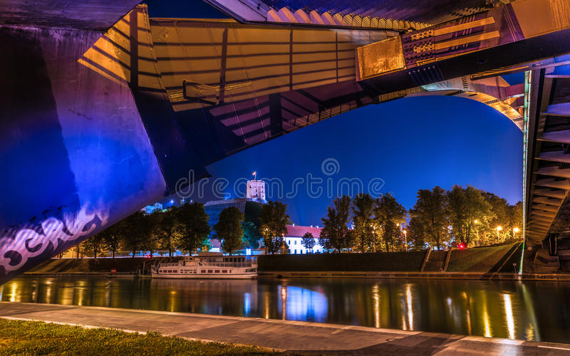 Under the brige stock photography