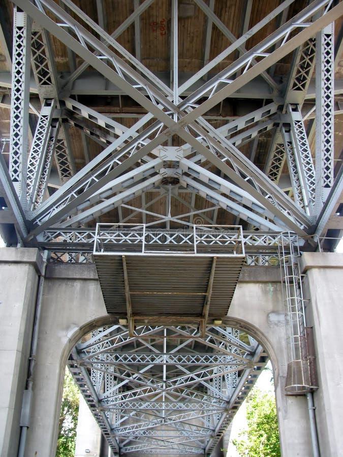 Under the Burrard Bridge royalty free stock photography