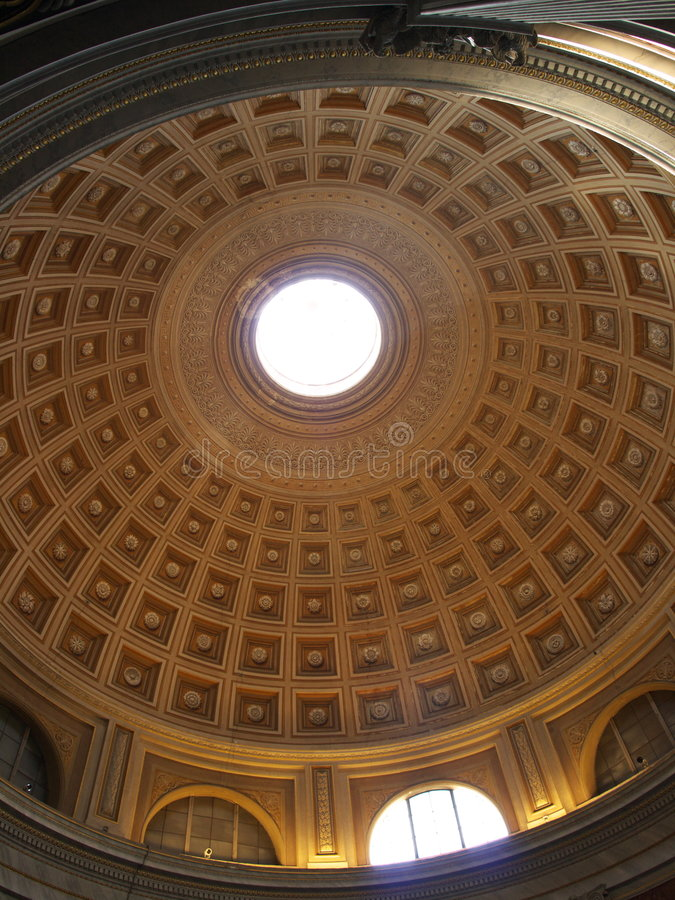 Under a cathedral dome royalty free stock photo