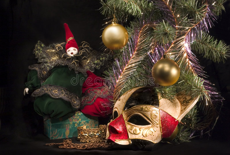 Under christmas tree. You can find almost anything under the christmas tree at christmas night