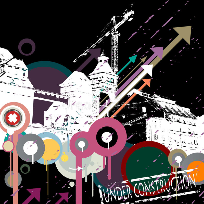 Download Under construction stock vector. Image of grunge, celebrate - 10786107