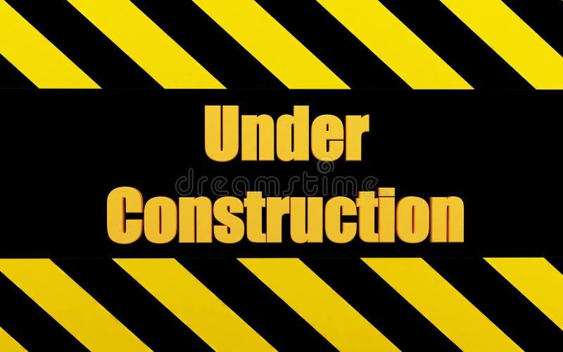 Under Construction. Beautiful 3d render Under Construction sign