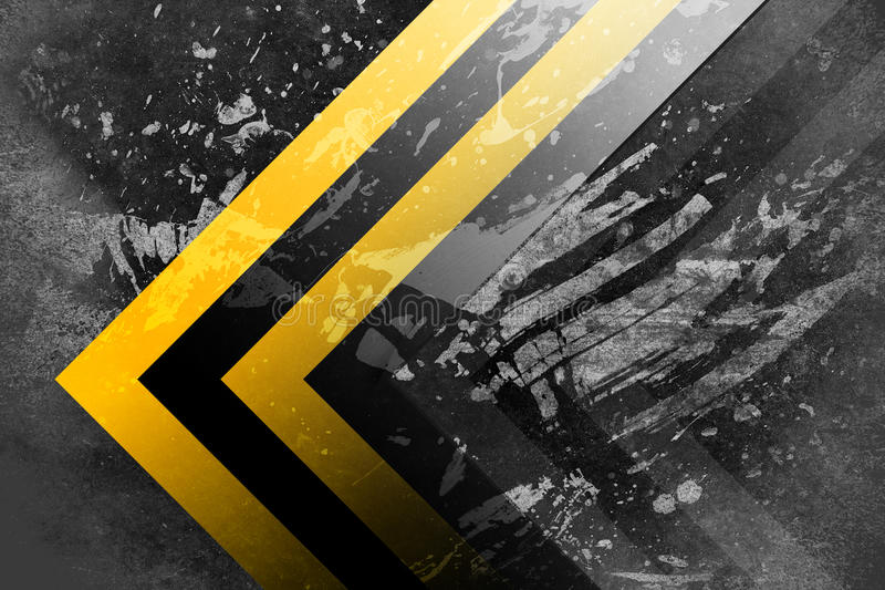 Under construction. A grunge background with yellow and black stripes, under construction theme