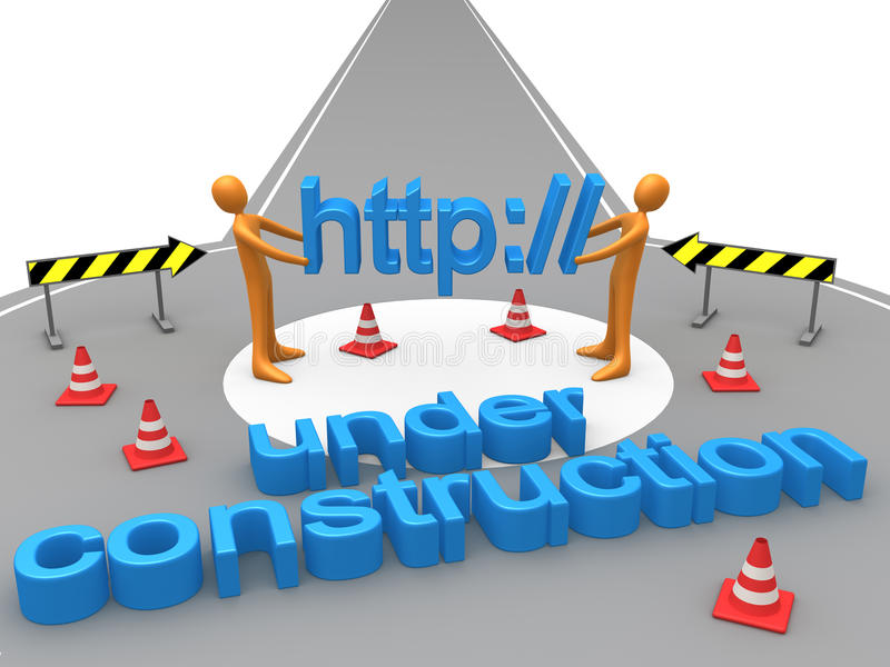 Download Under Construction stock illustration. Image of warning - 18960863