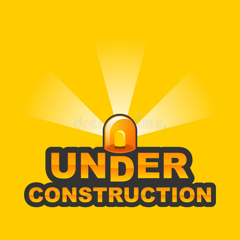 Under Construction / 2 stock illustration