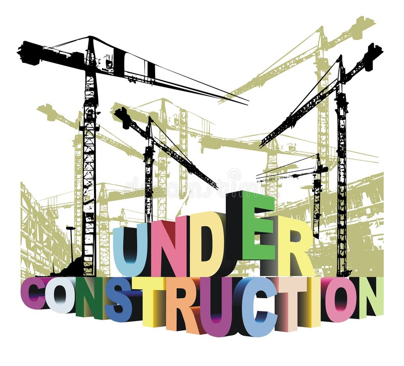 Under construction 3d stock illustration