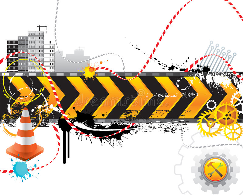 Under Construction. For internet web page, vector layered