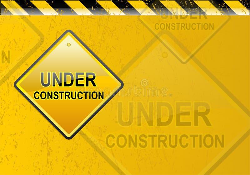 Under construction background royalty free illustration