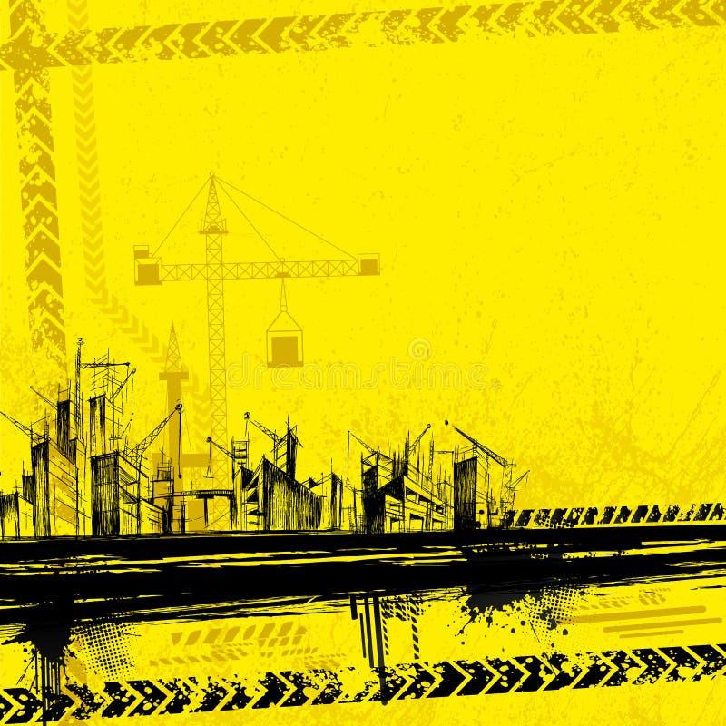 Download Under Construction Background Stock Vector - Illustration of metropolitan, grunge: 23825338