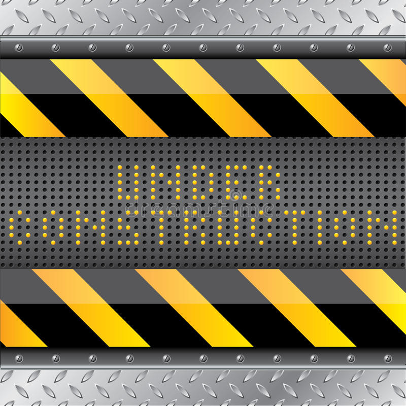 Download Under Construction Background With Led S Royalty Free Stock Image - Image: 22502756