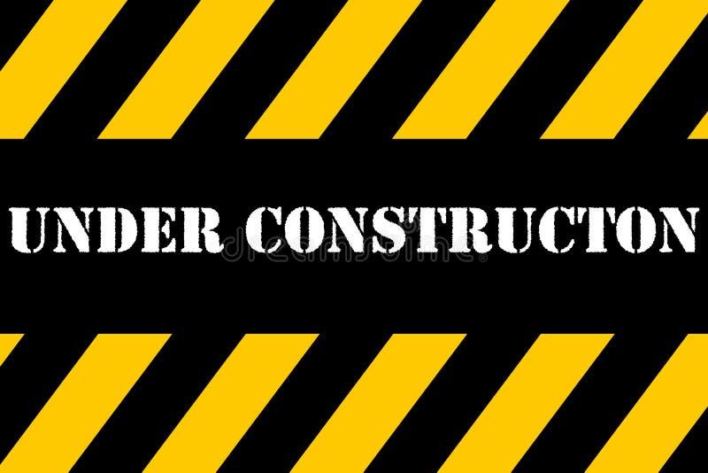 Under Construction Banner vector illustration