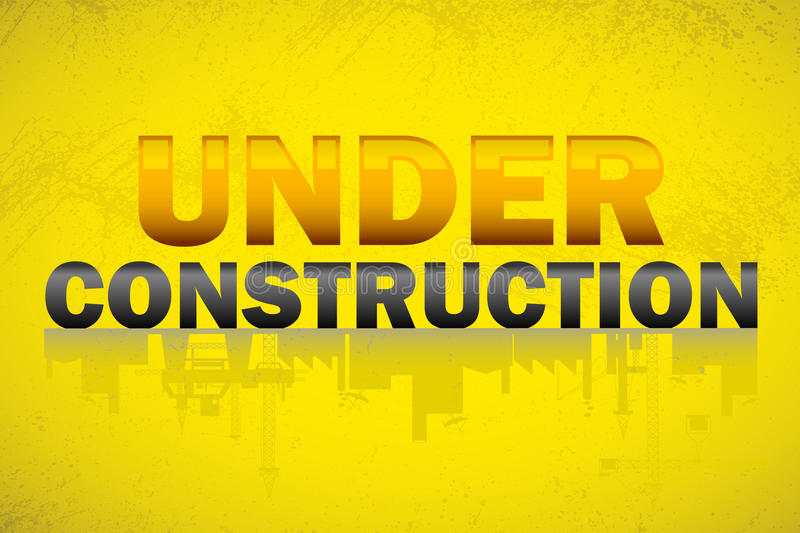Download Under Construction Banner stock vector. Illustration of industrial - 25738907
