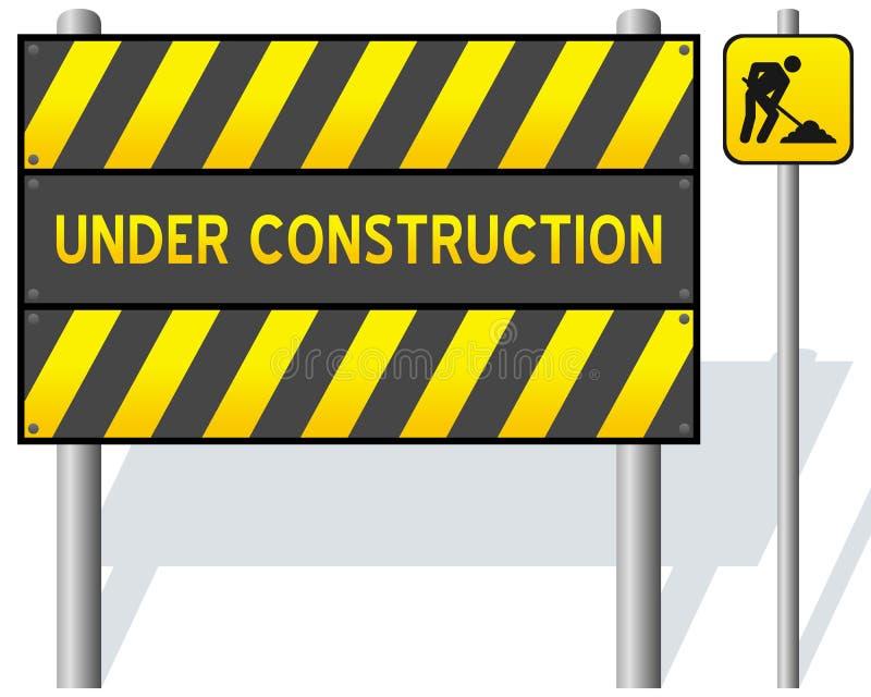 Under Construction Barrier vector illustration