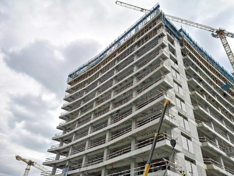 Under construction building at the North of the Capital stock photo