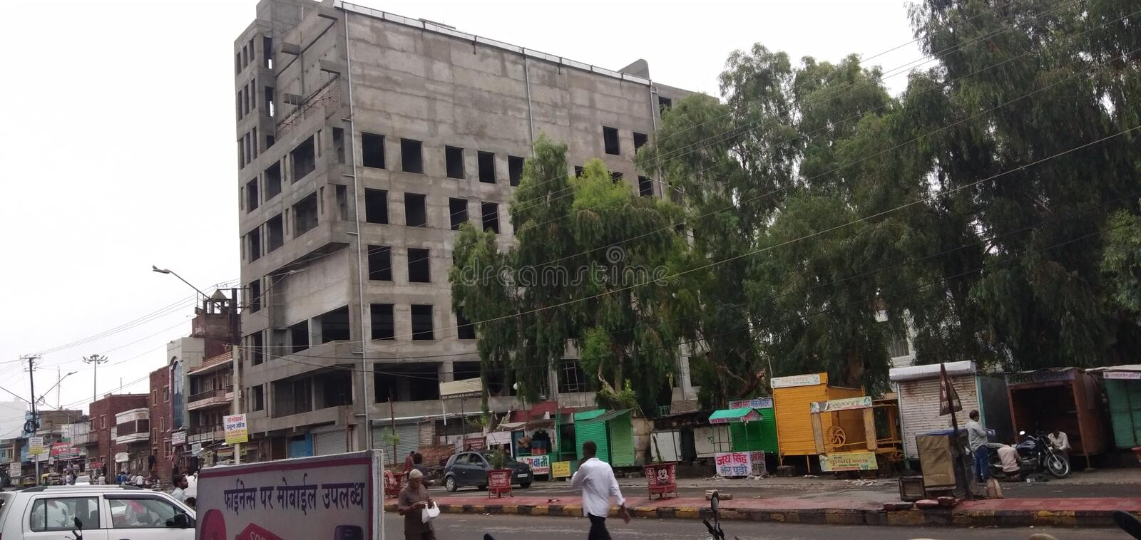 Under construction building in pali India stock photos