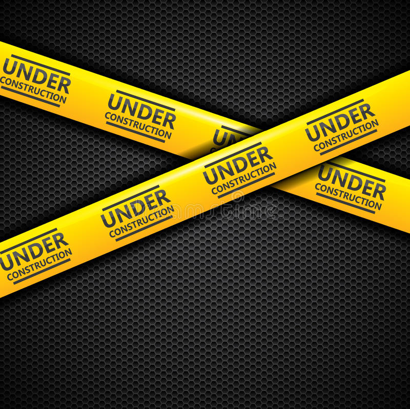 Free Under Construction Caution Tape, Vector Royalty Free Stock Photos - 27281388