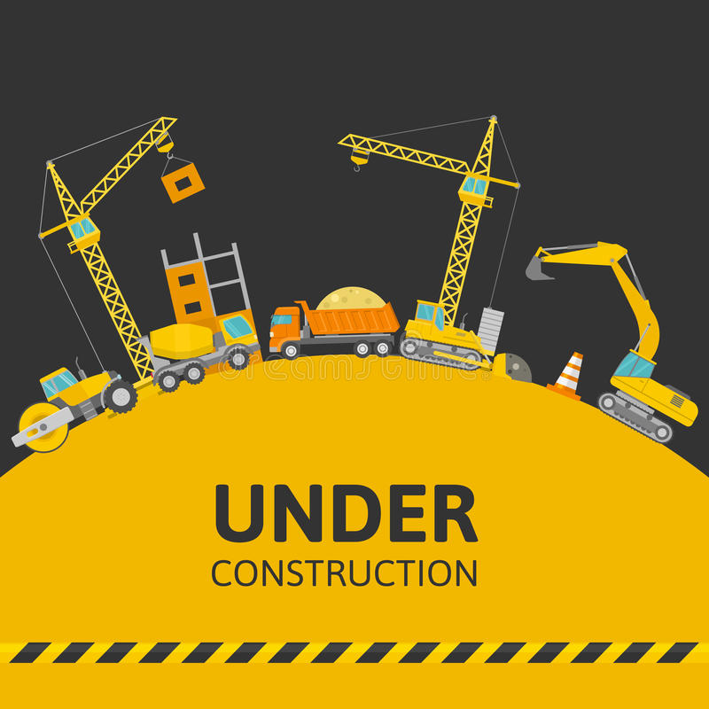 Under Construction Composition stock illustration