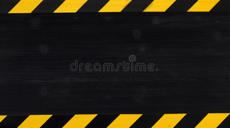 Under construction concept background. Warning tape. stock image