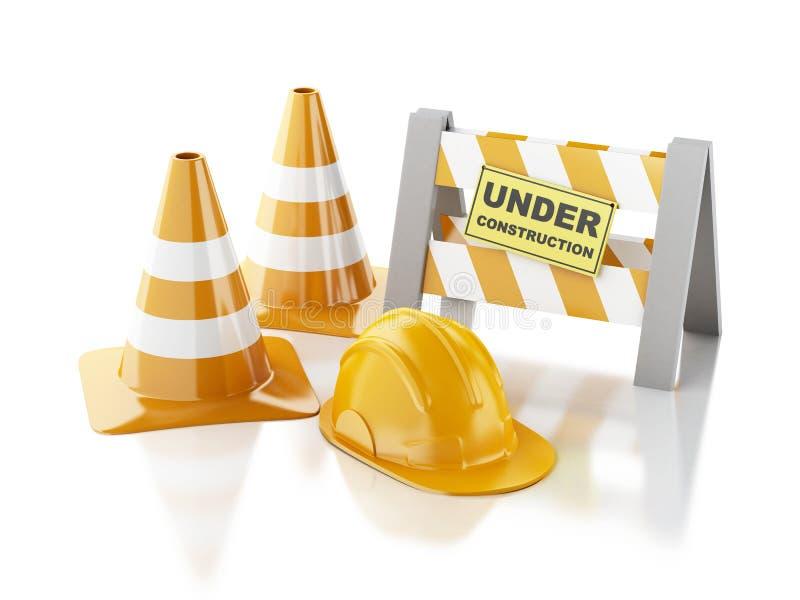 Under construction concept. 3d illustration stock illustration