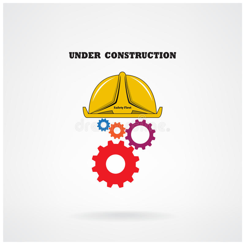 Under construction conceptual background.Design for banners ,poster,flyer ,cover and brochure. stock illustration