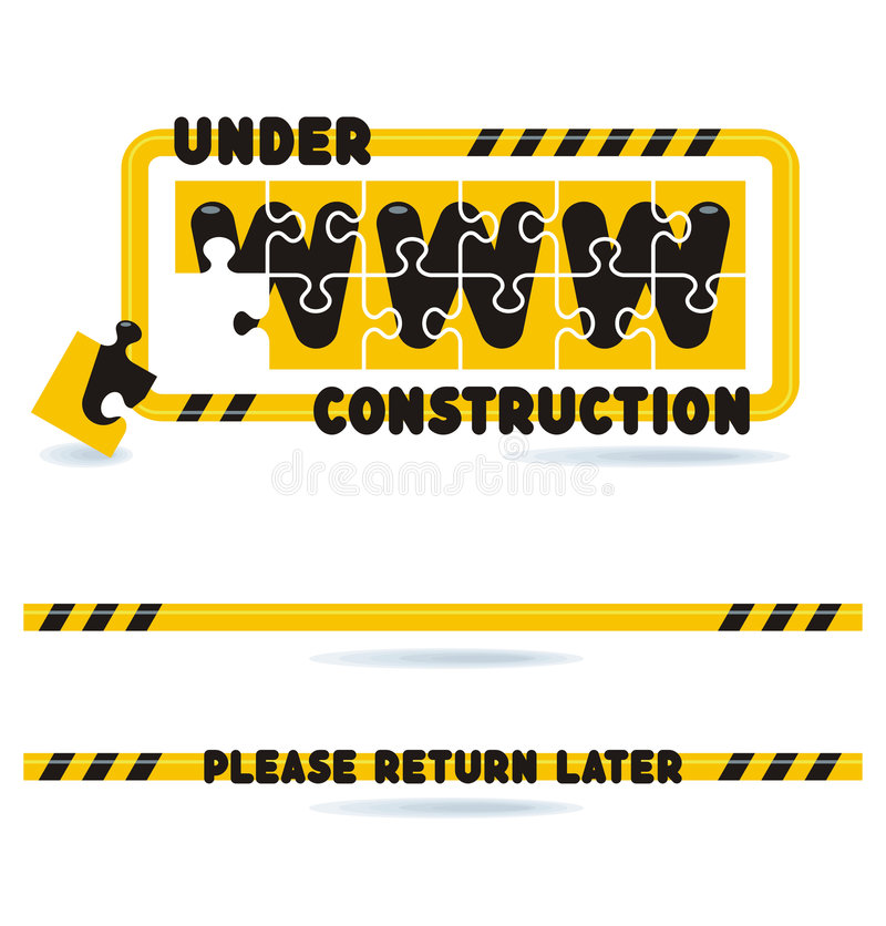 Download Under Construction Construction Bars And Graphics Stock Vector - Image: 4699880