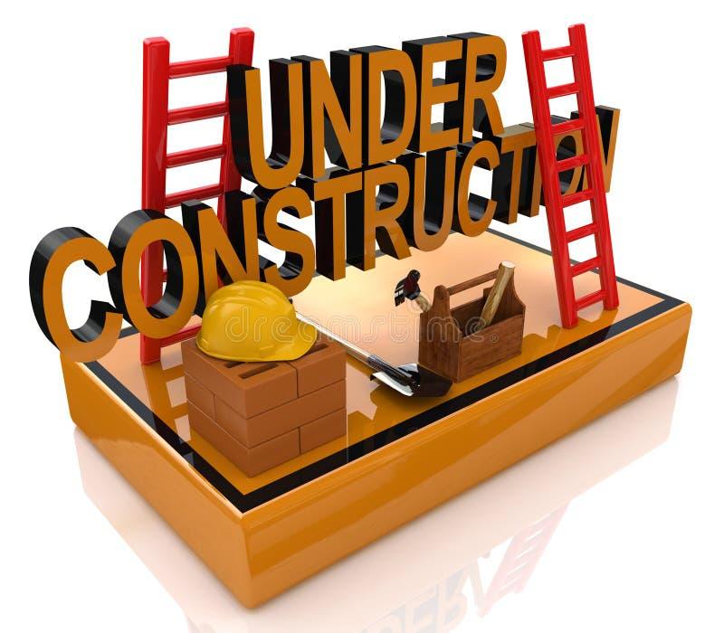 Under Construction 3D Render stock photo