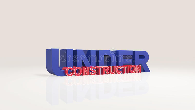 Under construction 3d render. Under construction high resolution 3d rendering vector illustration