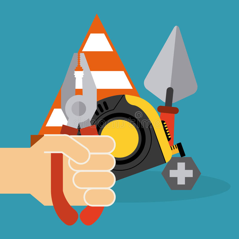 Under construction design. Under construction concept with tools design, vector illustration 10 eps graphic vector illustration