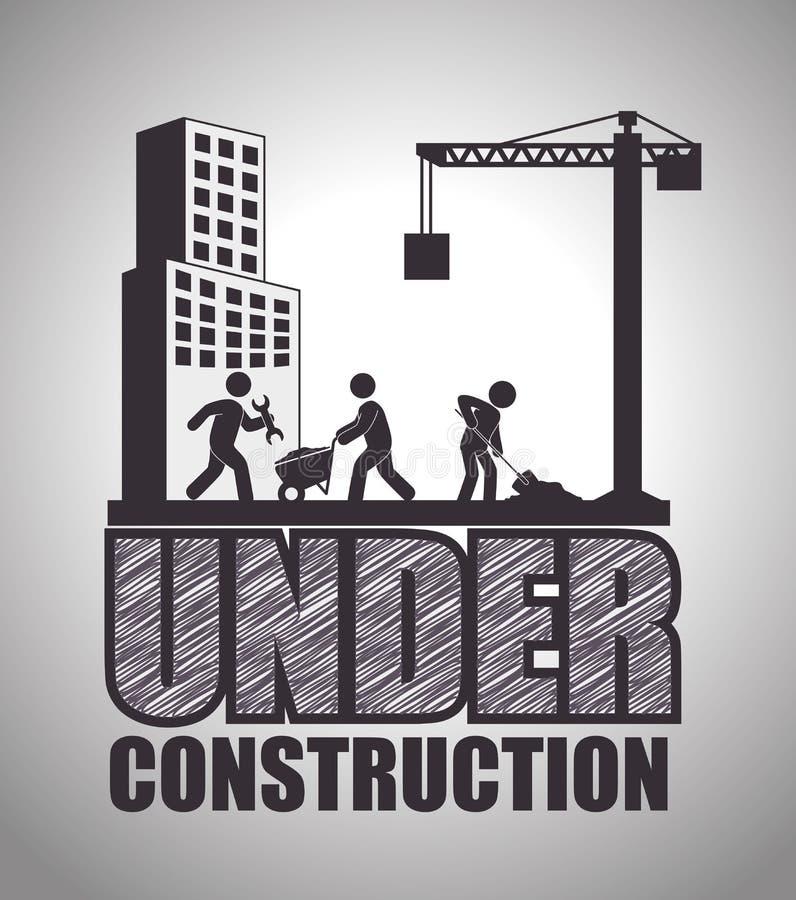 Under construction design. royalty free stock photos
