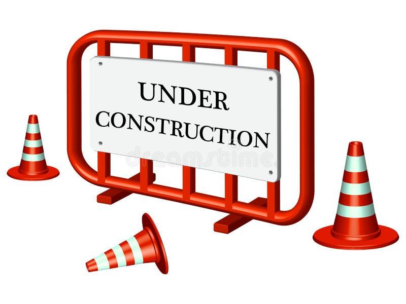 Download Under construction fence stock vector. Image of orange - 24379711