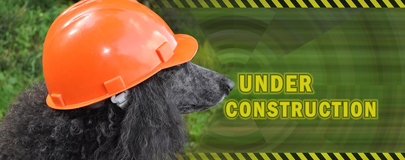 Under construction horizontal banner stock photos