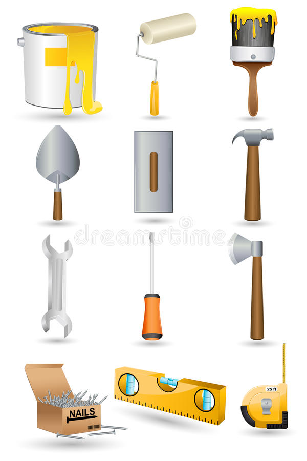 Under Construction icon Set vector illustration