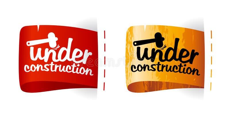 Under construction labels. royalty free illustration