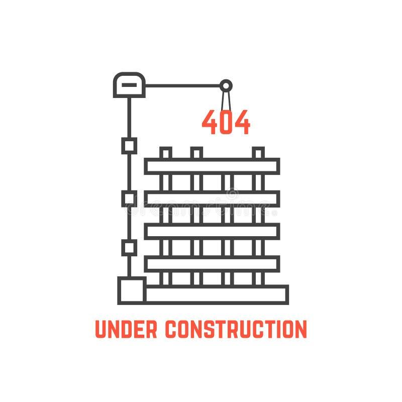 Under construction like server error royalty free illustration
