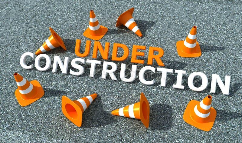 Under construction logo stock illustration