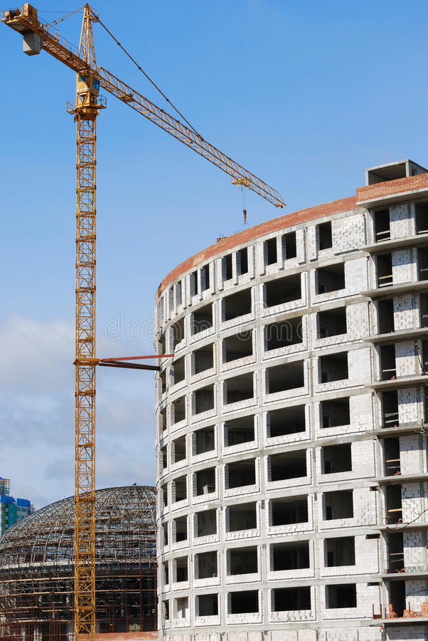 Download Under Construction Many-storied Building Stock Image - Image: 25697331