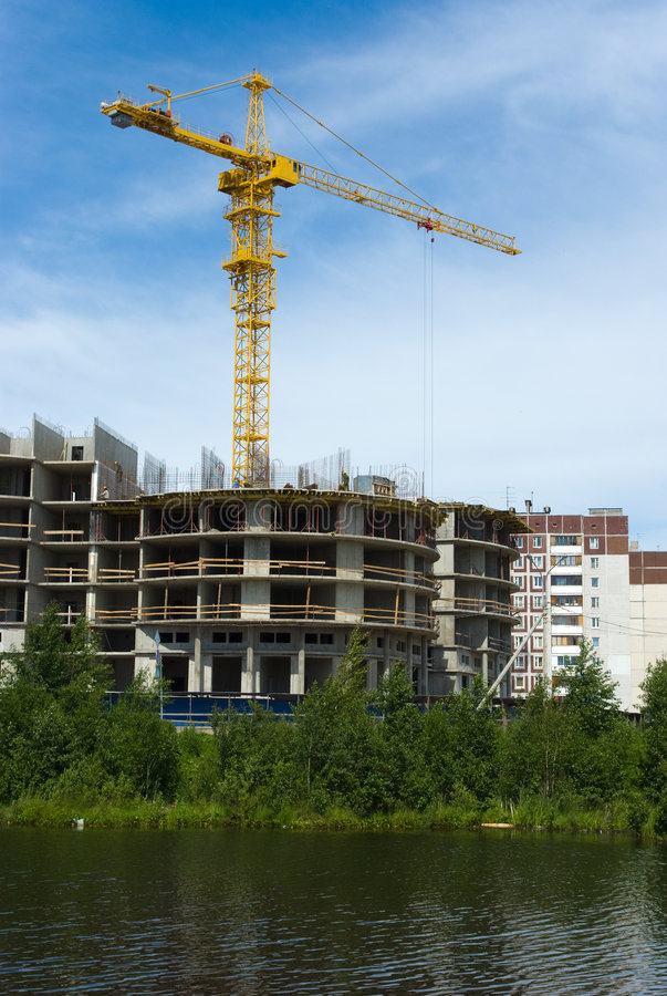 Download Under Construction Modern House Stock Image - Image: 9087071