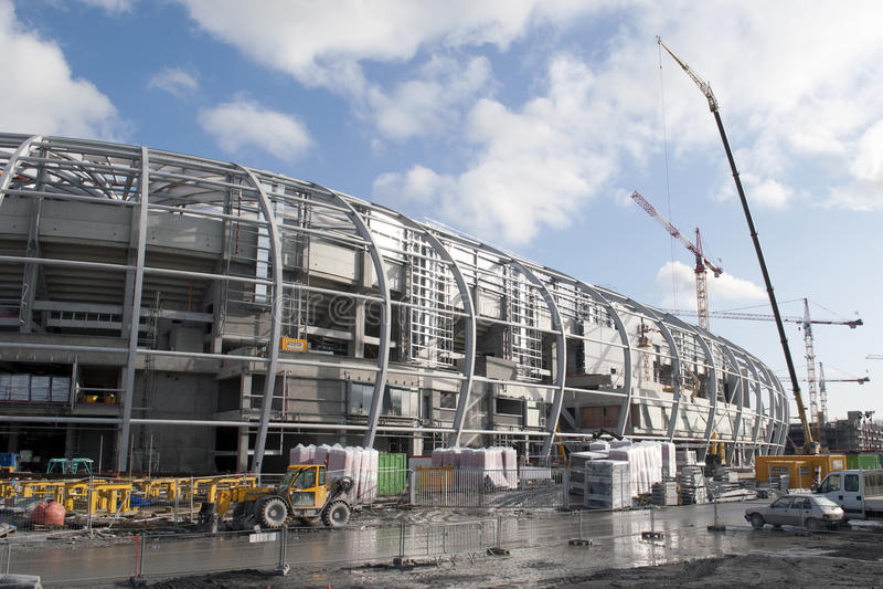 Under construction: new stadium Lille OSC stock photo