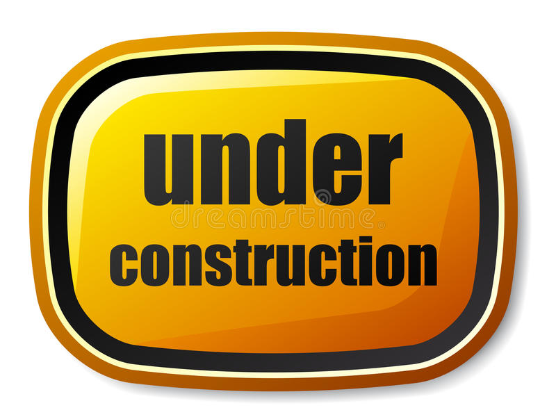 Download Under Construction Rectangle Rounded Button Royalty Free Stock Photo - Image: 22507005