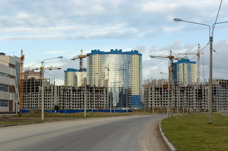 Under Construction Residential District Royalty Free Stock Image