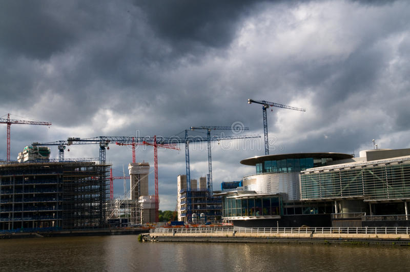 Download Under Construction Salford Quays Stock Image - Image: 26348237
