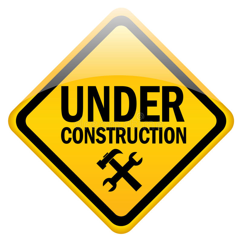 Download Under construction sign stock vector. Image of problem - 18772135