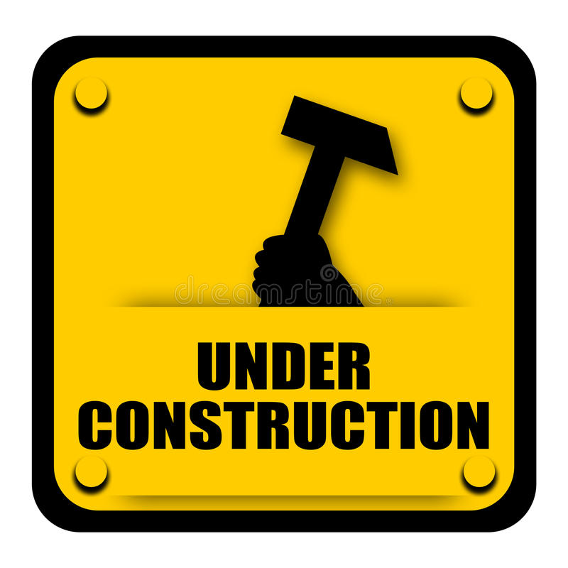Under Construction Sign royalty free illustration