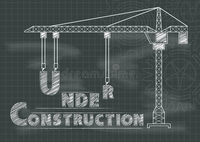Under construction sign crane gears and cogs chalkboard stock vector download under construction sign crane gears and cogs chalkboard stock vector illustration of modern malvernweather Image collections